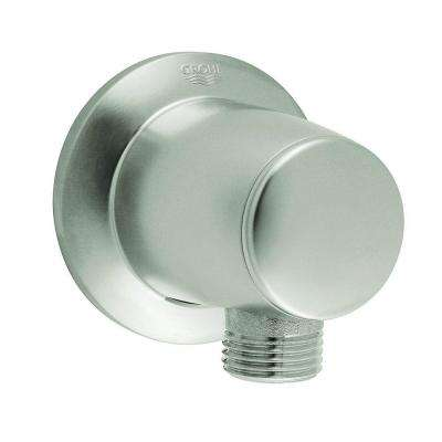 Movario Wall Union in Brushed Nickel InfinityFinish for GROHE Shower Hoses