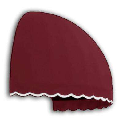 4 ft. Bostonian Awning (33.25 in. H x 26.25 in. D) in Burgundy