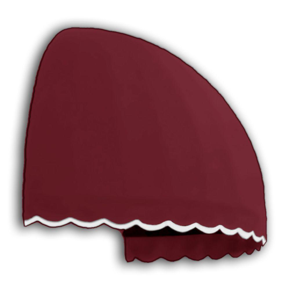 AWNTECH 6 ft. Bostonian Window/Entry Awning (45.25 in. H x 38.25 in. D) in Burgundy