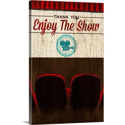"""""""Enjoy the Show (Theater)"""" by SD Graphics Studio Canvas Wall Art"""
