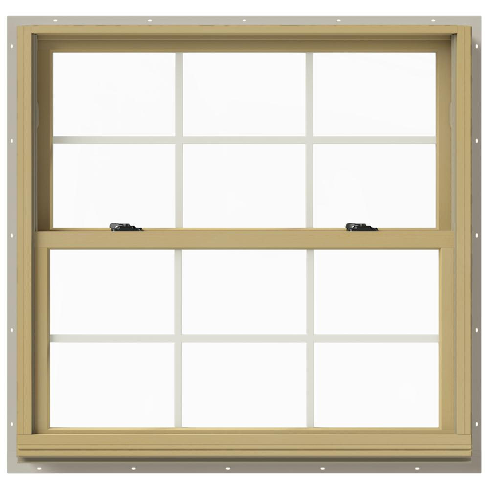 37.375 in. x 36 in. W-2500 Double Hung Aluminum Clad Wood