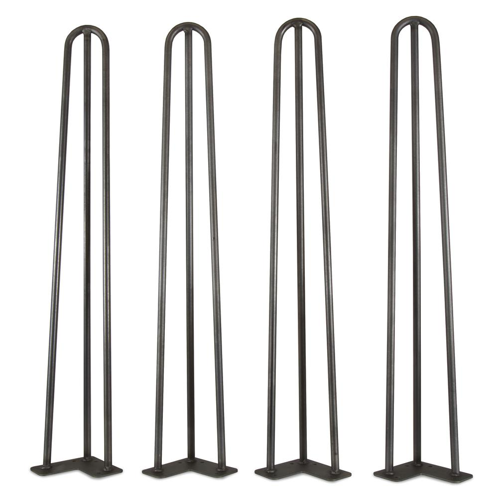 Coffee Table Legs At Home Depot: WEN 1/2 In. Dia 28 In. Mid-Century Modern Satin Black