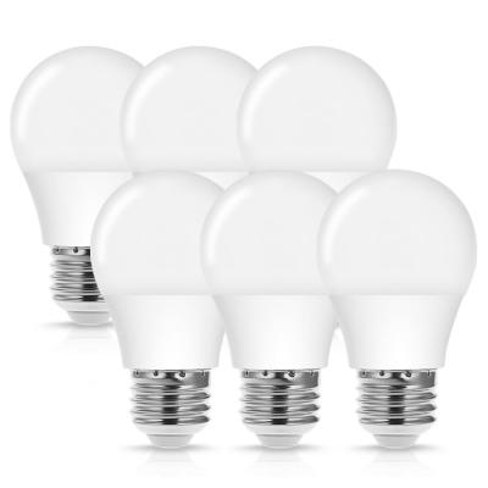 40-Watt Equivalent 4W A15 Non-Dimmable LED Light Bulb E26 Base in Daylight White 5000K (6-Pack)