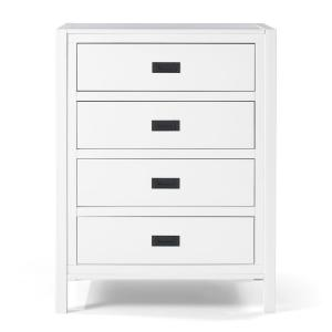 40'' Classic Solid Wood 4-Drawer Chest - White