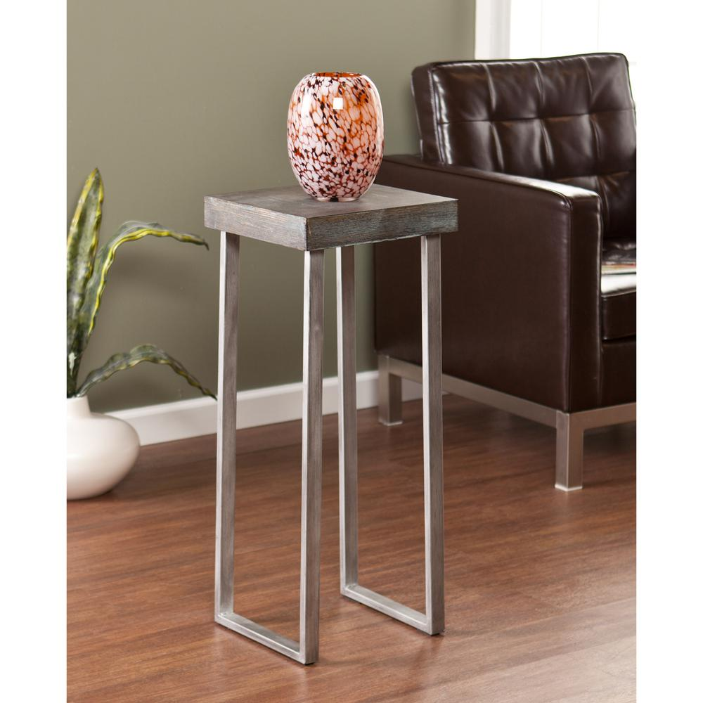 Southern Enterprises Lansing Burnt Oak Contoured End Table