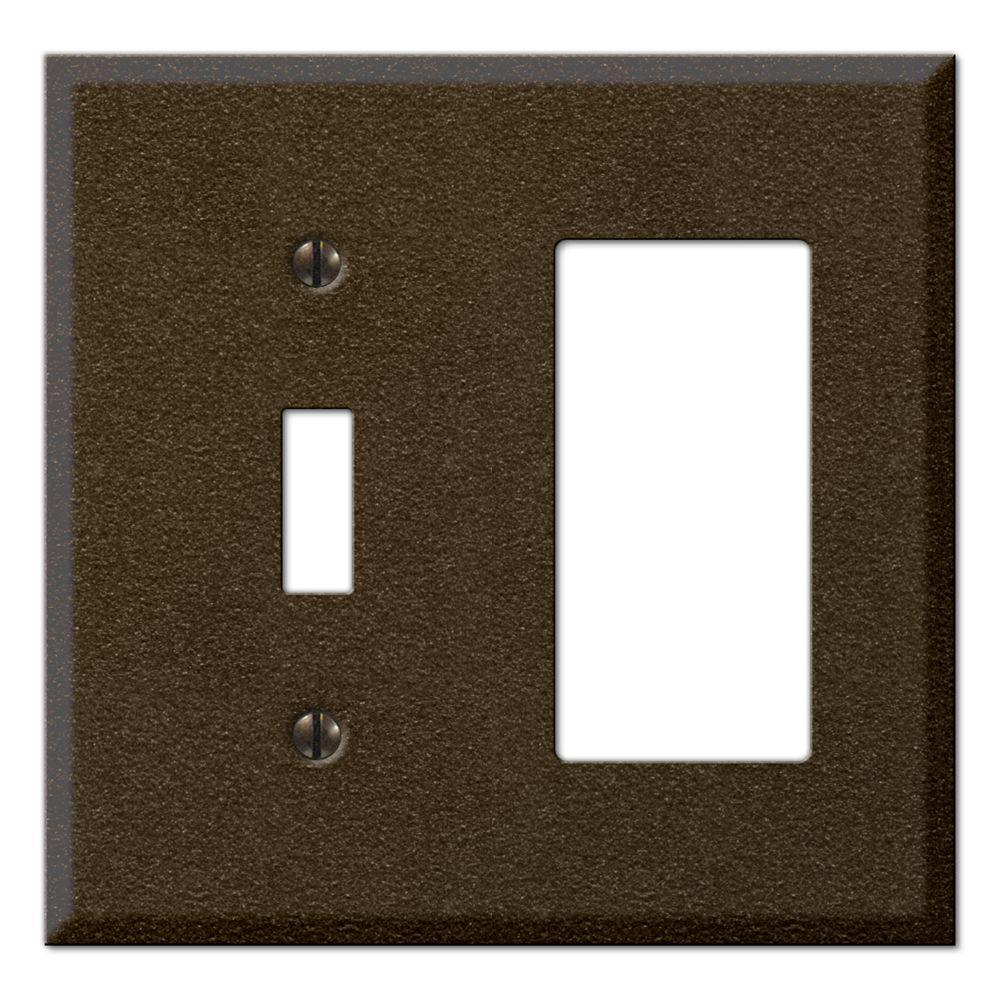 Creative Accents Steel 1 Toggle 1 Decorator Wall Plate - Bronze