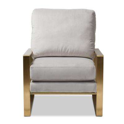 Mietta Gray Fabric Upholstered Lounge Chair