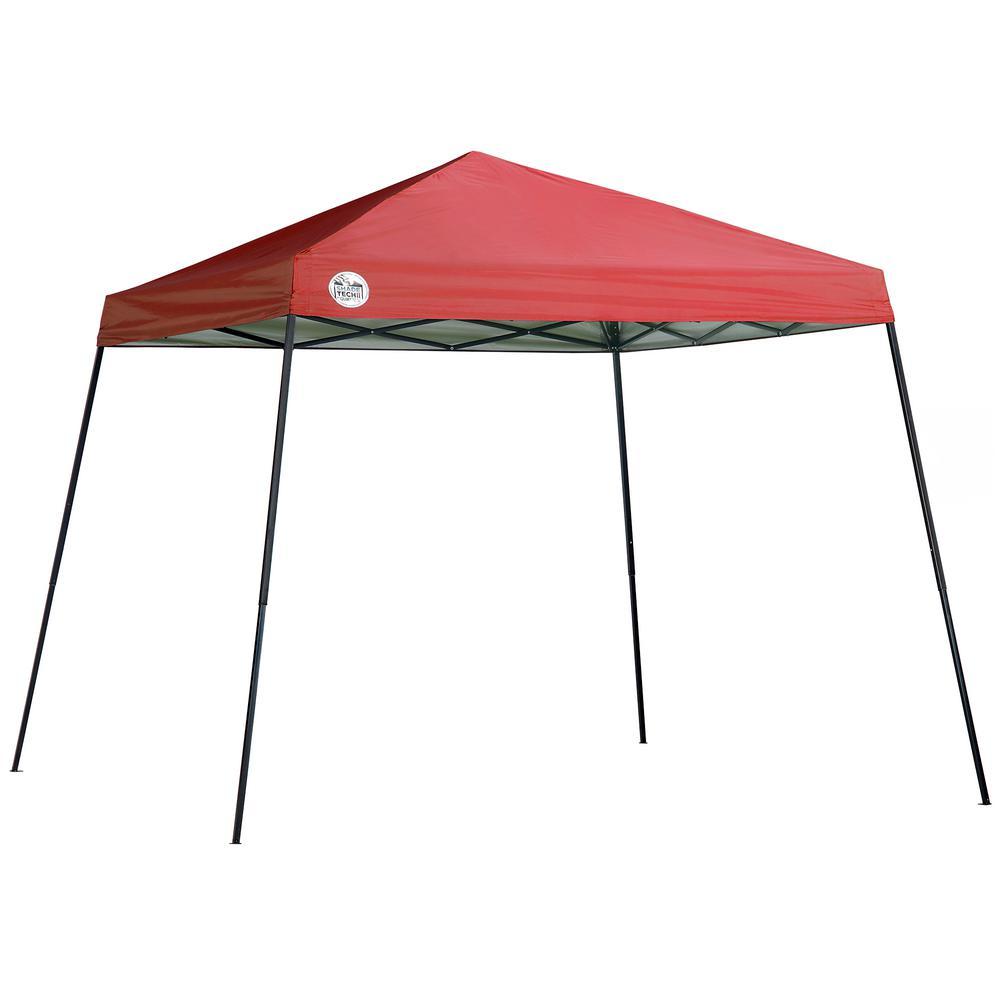 ST64 10 ft. x 10 ft. Red Slant Leg Canopy