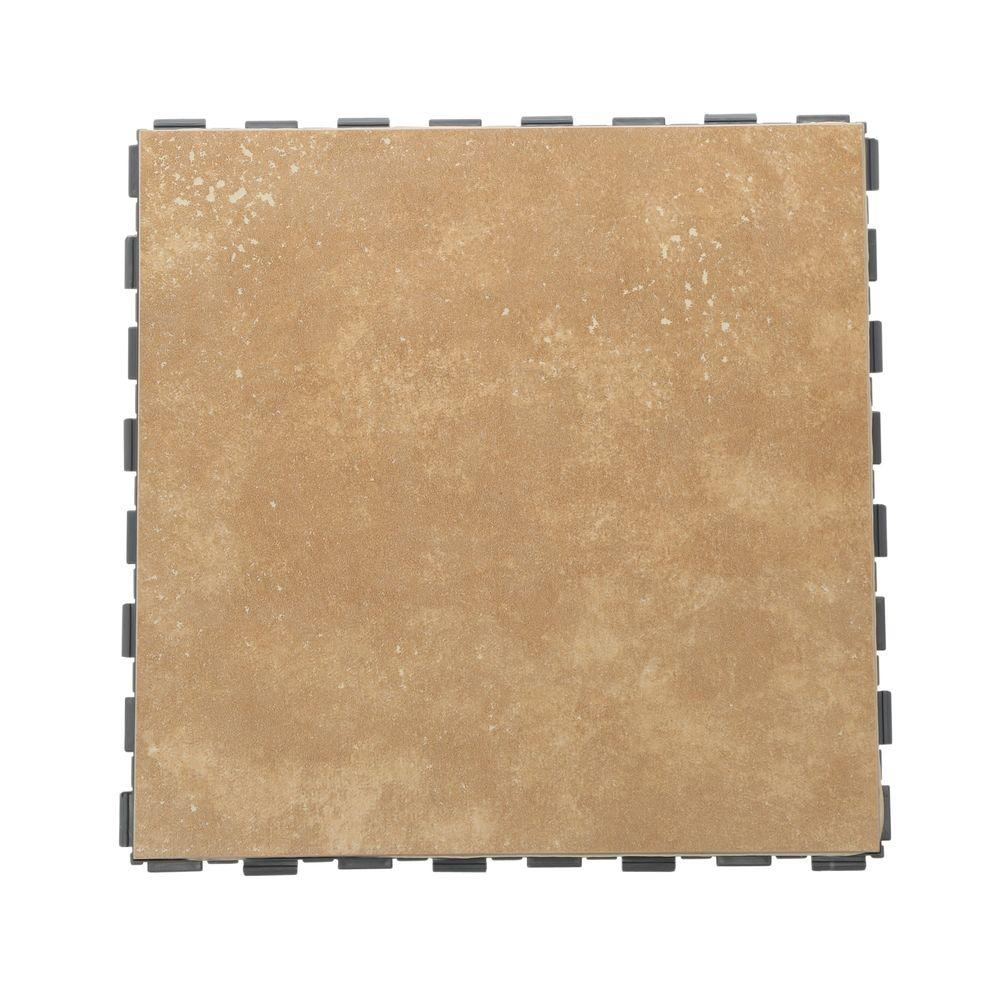 Latte 12 in. x 12 in. Porcelain Floor Tile (5 sq.