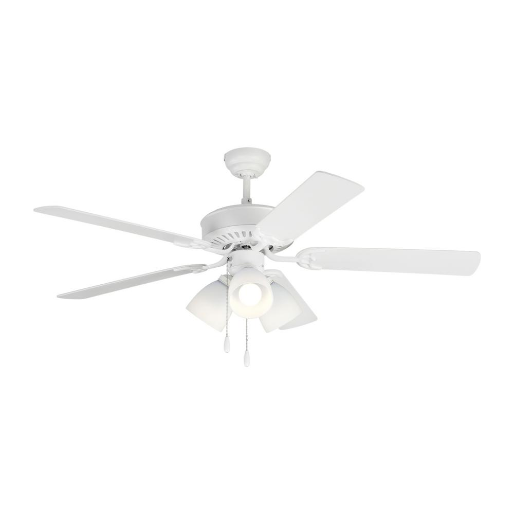 Monte Carlo Haven LED 3 52 in. Indoor Matte White Ceiling Fan with Light Kit was $157.6 now $103.98 (34.0% off)