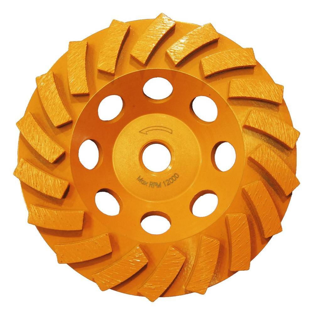 Ridgid 5 inch 18-Segment Turbo Cup Grinding Wheel by RIDGID