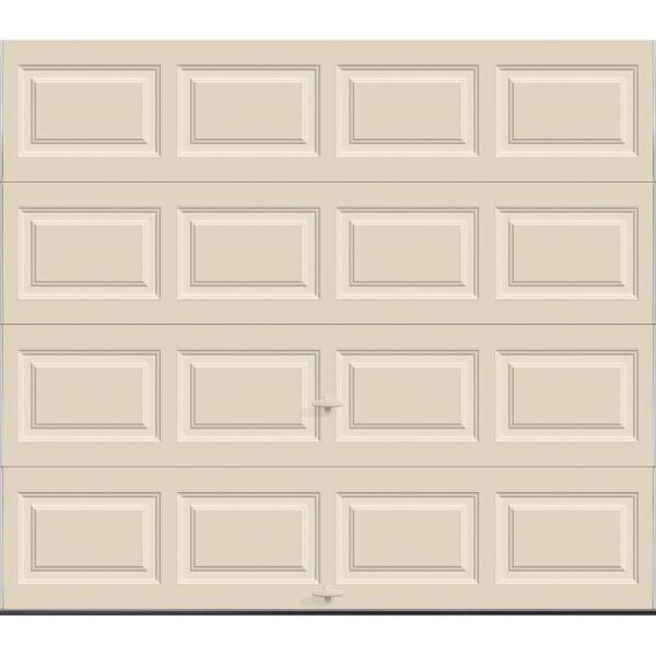 Classic Collection 8 ft. x 7 ft. 12.9 R-Value Intellicore Insulated Solid Almond Garage Door