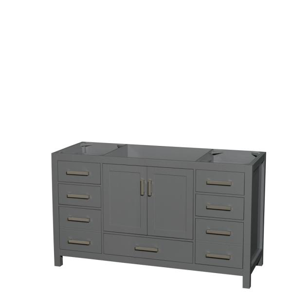 Sheffield 59 in. W x 21.5 in. D Vanity Cabinet Only in Dark Gray