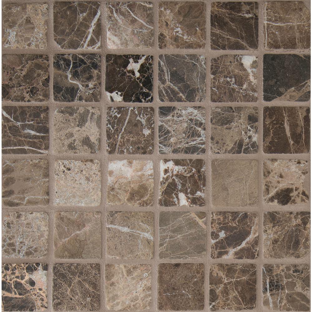 Msi Emperador Dark 12 In X 12 In X 10 Mm Tumbled Marble