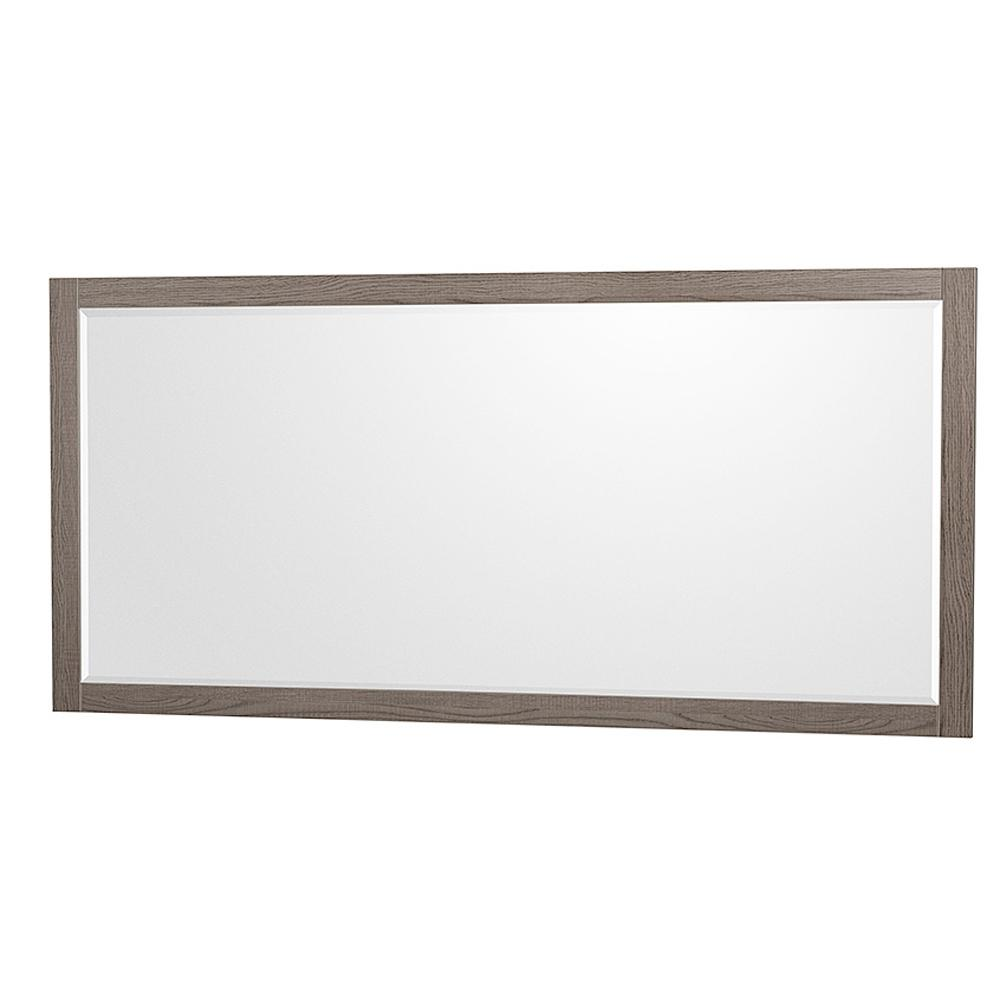 Wyndham Collection Amare 70 in. W x 33 in. H Framed Wall Mirror in Gray Oak