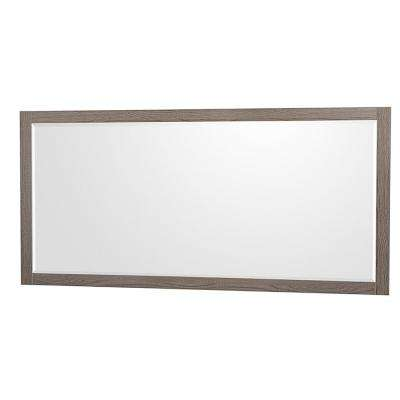 Amare 70 in. W x 33 in. H Framed Wall Mirror in Gray Oak