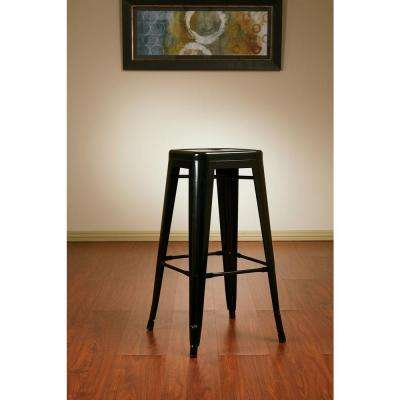 30.25 in. Black Bar Stool (Set of 4)