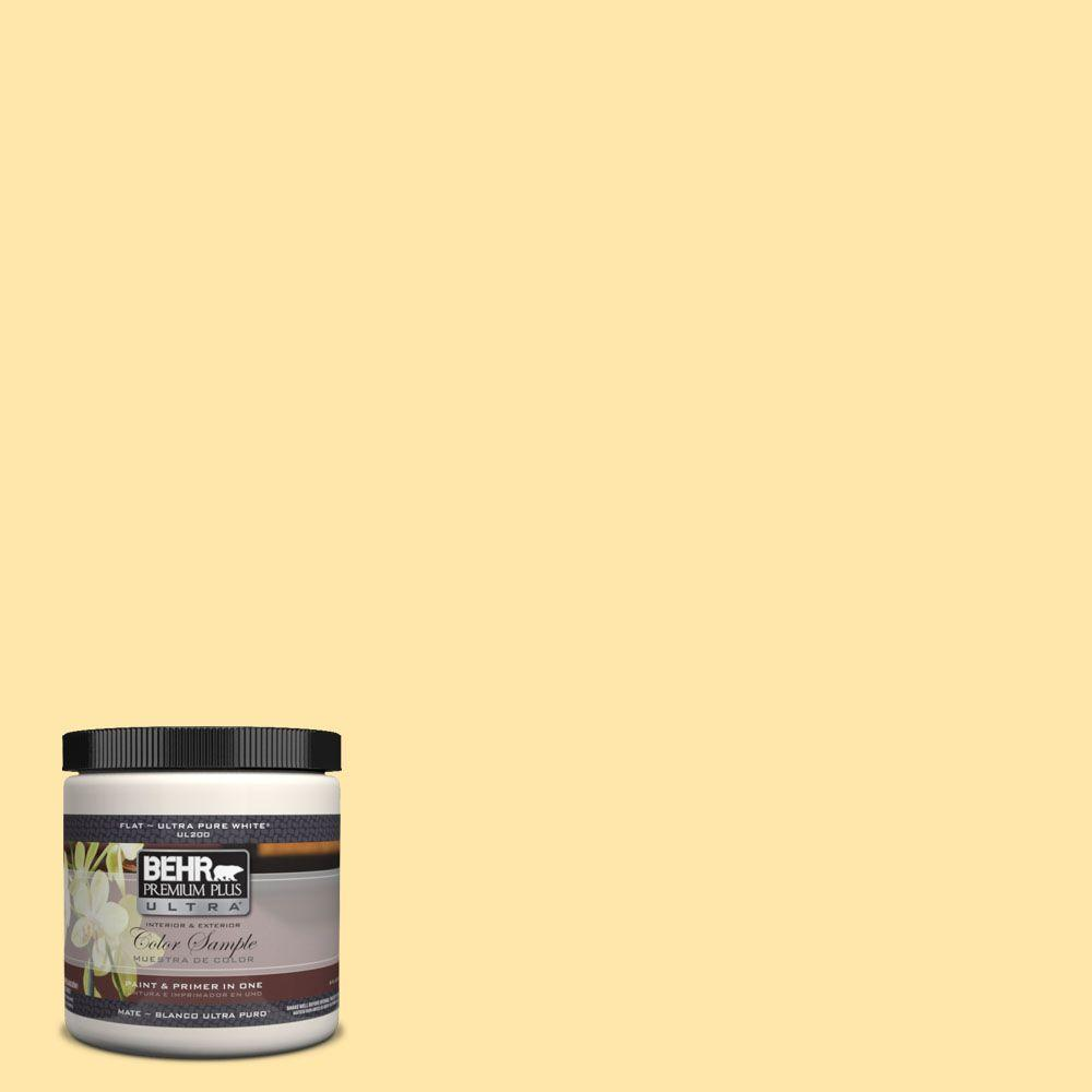 BEHR Premium Plus Ultra 8 oz. #PPH-02 Corn Interior/Exterior Paint Sample