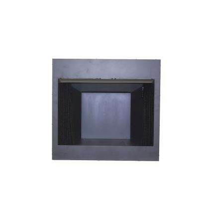 32 in. Vent Free Dual Fuel Circulating Firebox Insert with Screen in Black