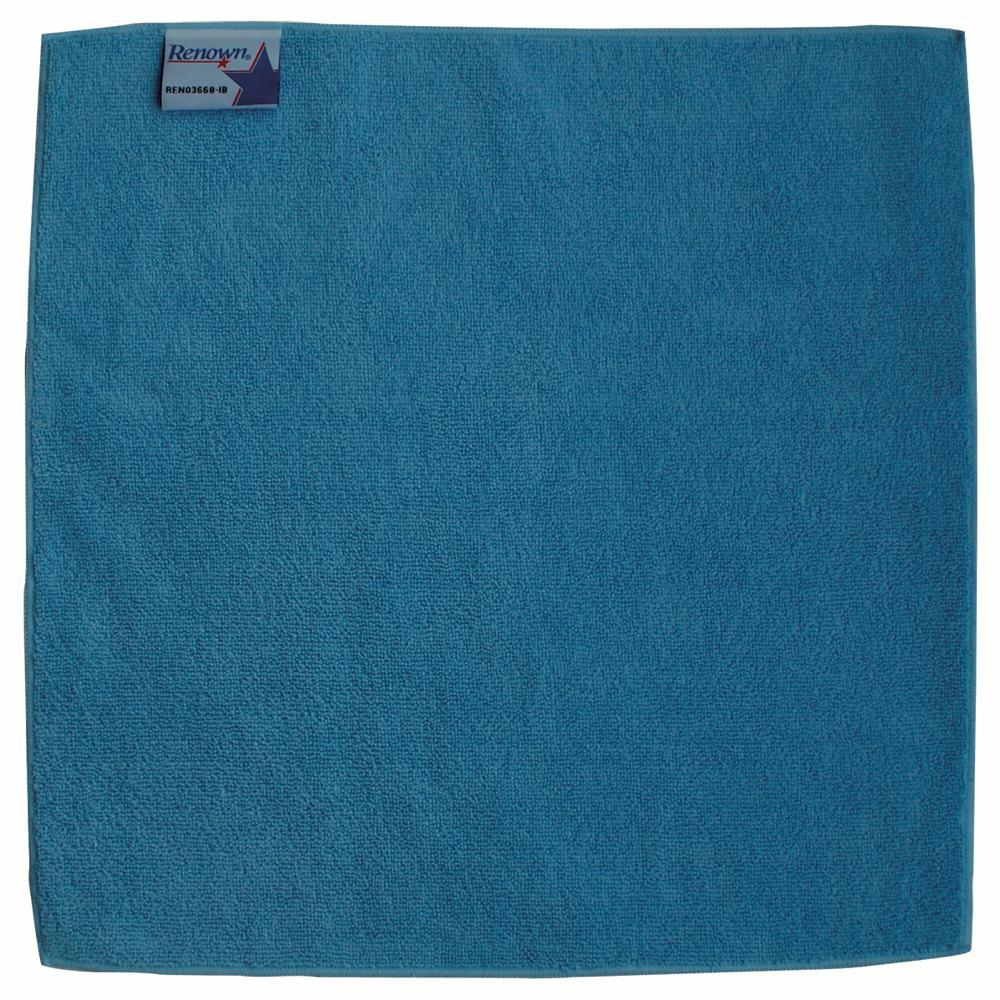 16 in. x 16 in. Blue Microfiber Cloth