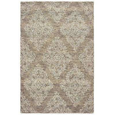 Karma Khaki 8 ft. x 10 ft. Indoor Area Rug