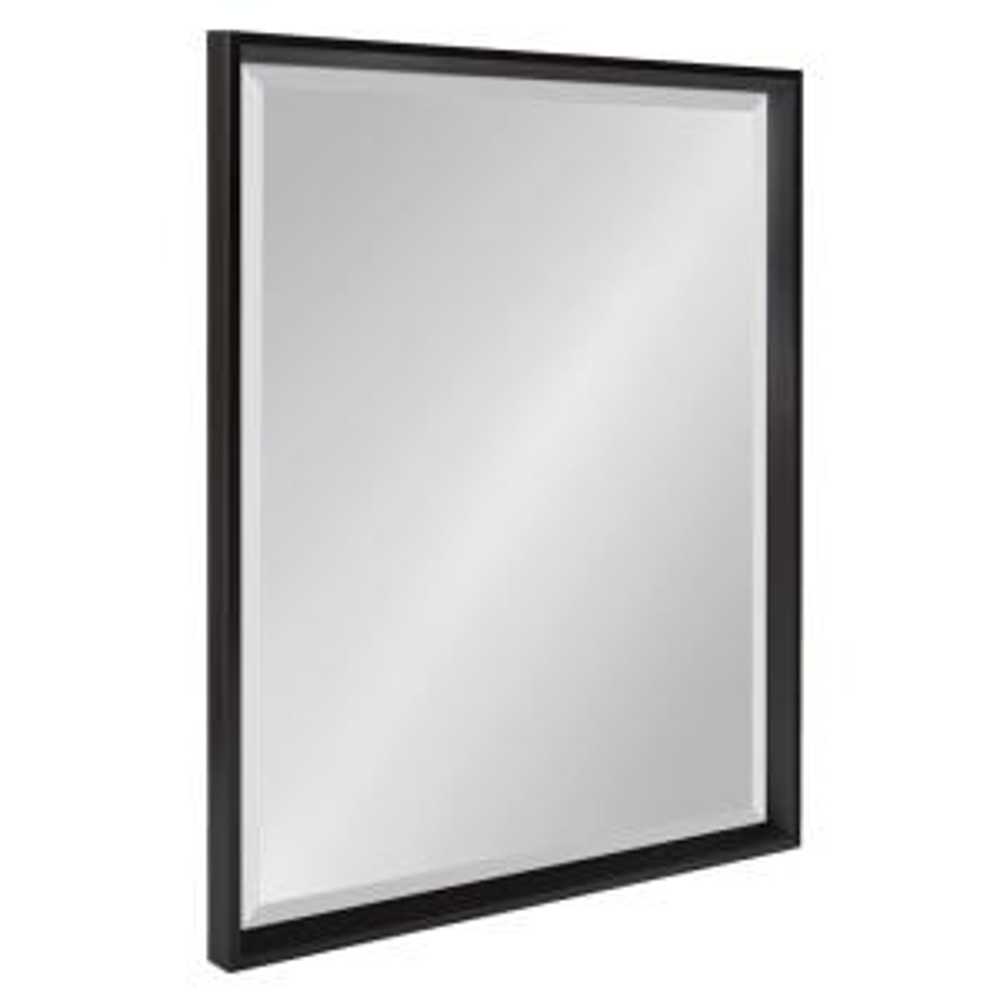 Calter 21.5 in. W x 27.5 in. H Framed Rectangular Beveled Edge Bathroom Vanity Mirror in Black