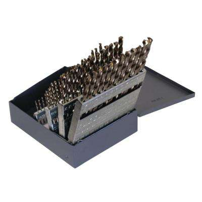 1802 Cobalt Heavy-Duty 135-degree Split Point #1 - #60 Bit Set (60-Piece)