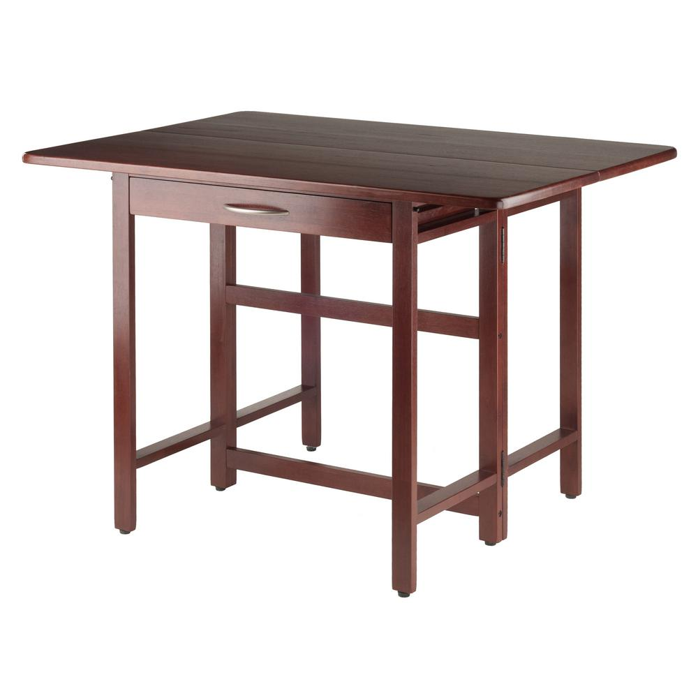 Beau Winsome Wood Taylor Walnut Drop Leaf Dining Table