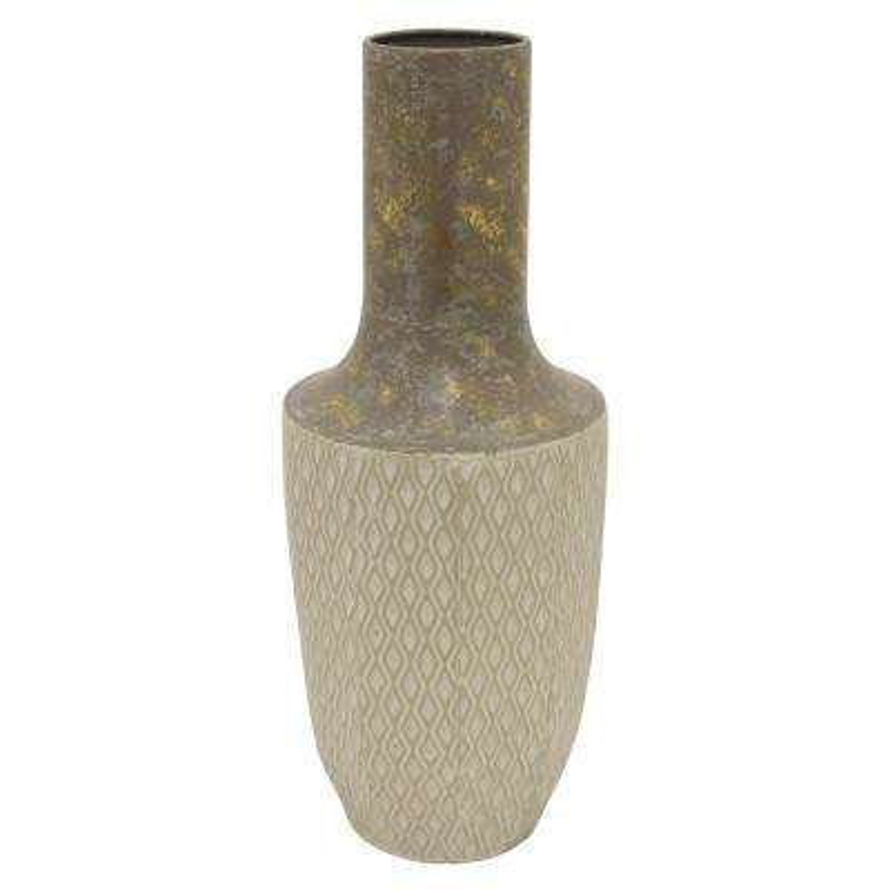 Gold Metal Decorative Vase