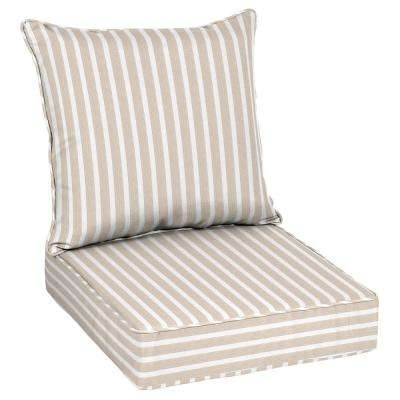 Sunbrella Shore Linen Outdoor Lounge Chair Cushion