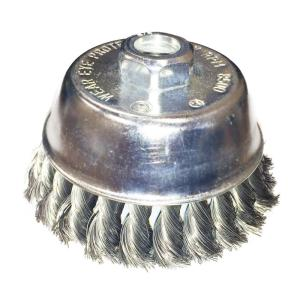 Robtec 3-1/2 inch x 5/8 in.-11 Threaded Arbor Twist Stainless Steel Cup Brush... by Robtec