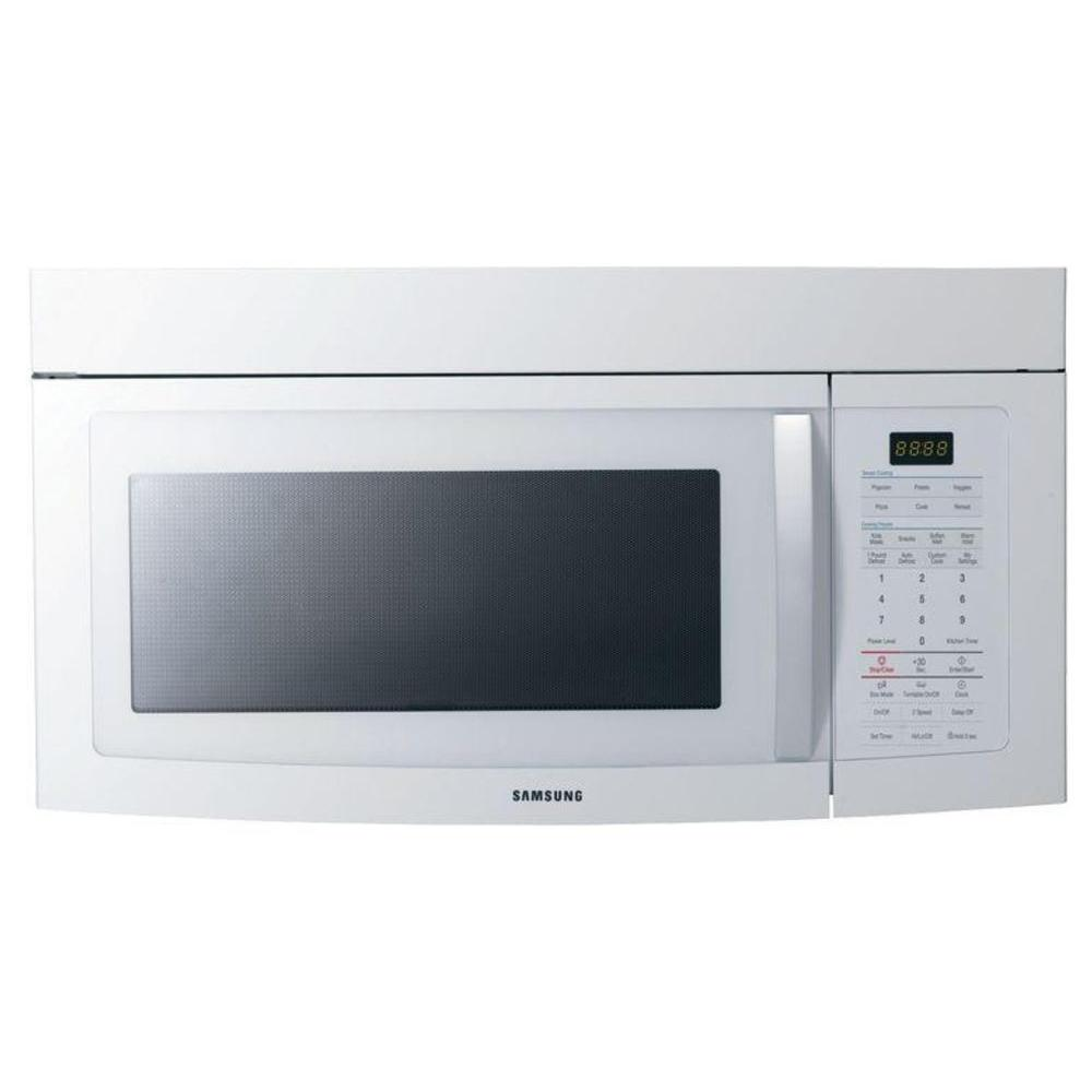 Samsung 1.7 cu. ft. Over the Range Microwave in White with Sensor Cooking-DISCONTINUED