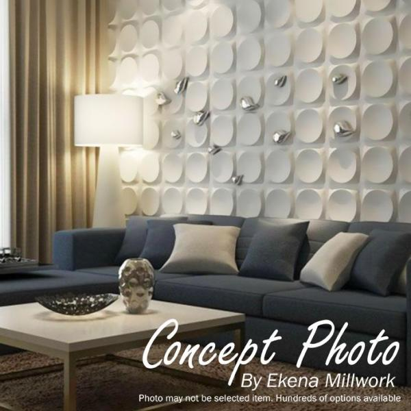 Ekena Millwork 1 In X 19 5 8 In X 19 5 8 In Pvc White Wave Endurawall Decorative 3d Wall Panel Wp20x20wvwh The Home Depot