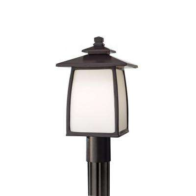 Wright House 1-Light Oil-Rubbed Bronze Outdoor Post Light