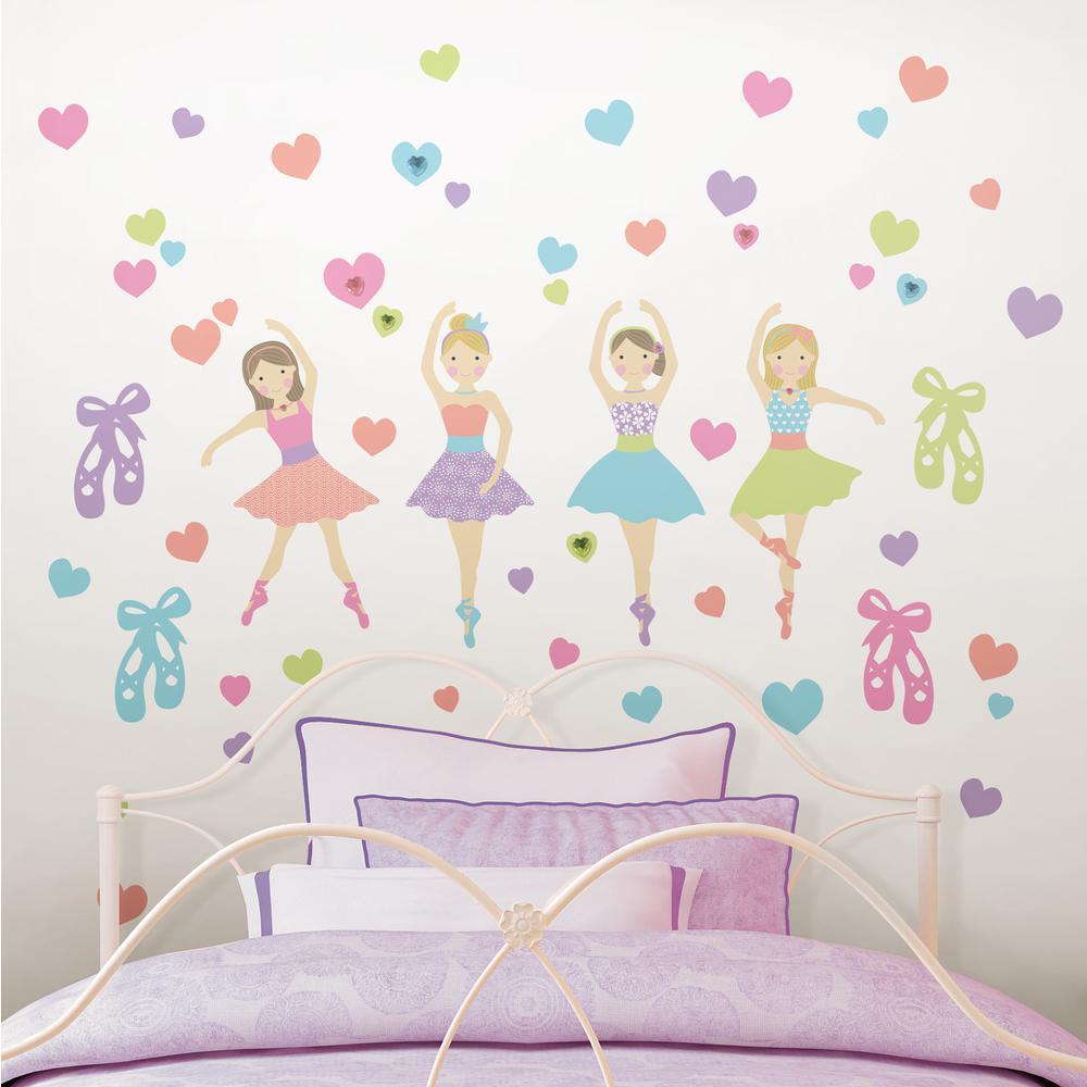 Multi-Color Prima Ballerina Wall Decal