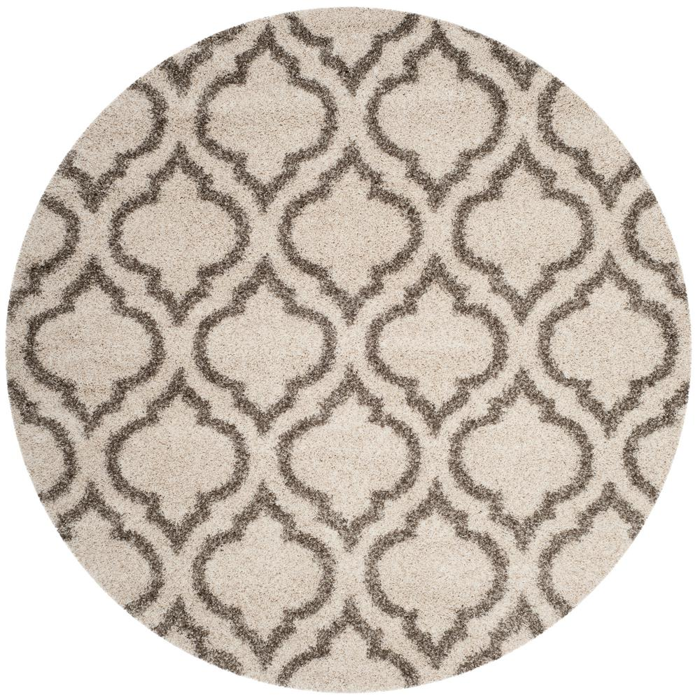Safavieh Hudson Ivory Gray 7 Ft X Round Area Rug