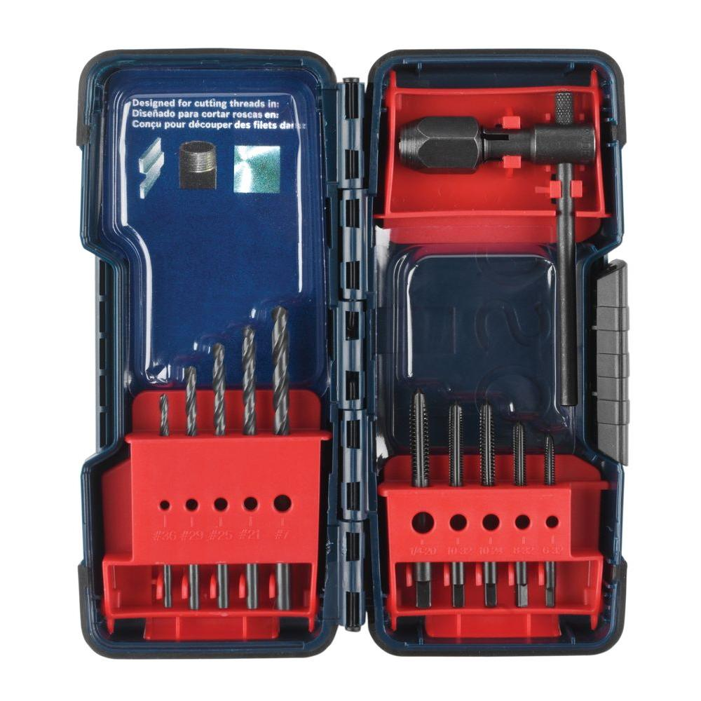 Bosch Black Oxide Tap & Drill Set (11-Piece)