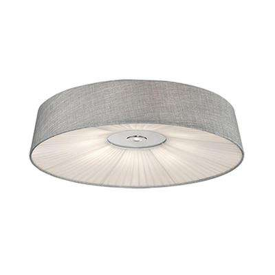 Oxford Chrome 40-Watt Equivalence Integrated LED Ceiling Flushmount