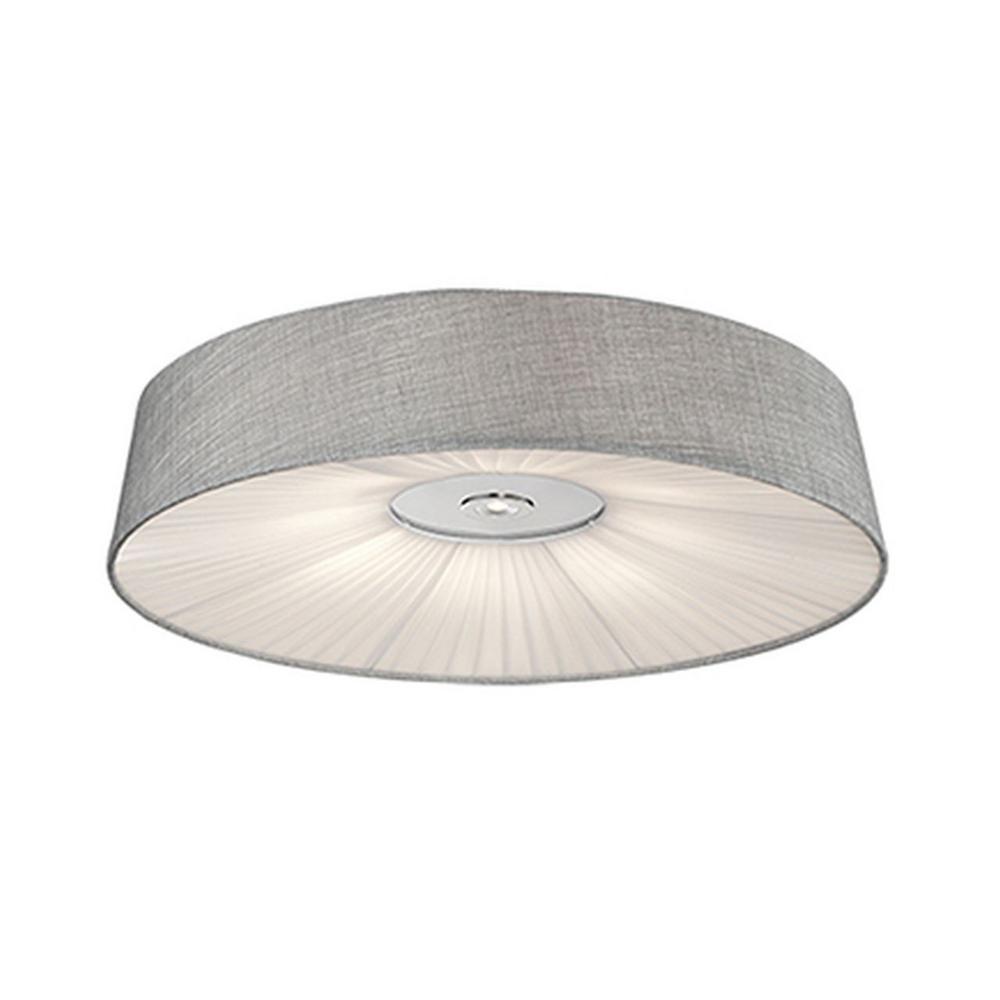 Oxford Chrome 40-Watt Equivalence Integrated LED Ceiling Flushmount