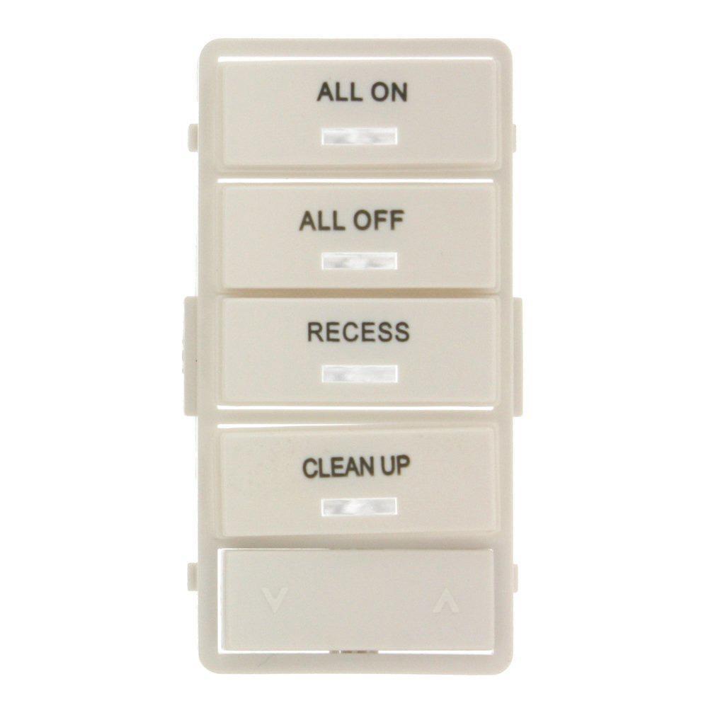Vizia RF+ White Label Kit for VRCS4 4-Button Scene Controller