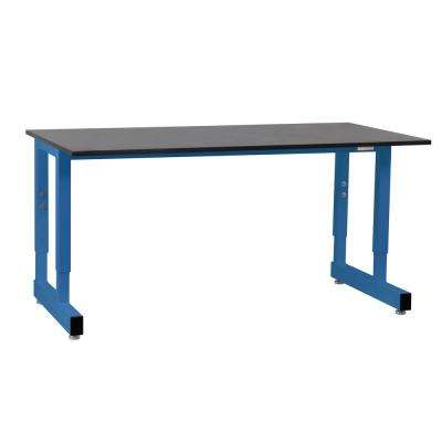Dewey Series 2.5 ft. D x 4 ft. W x 3/4 in. T Phenolic Resin Top 5,000 lbs. Capacity Workbench