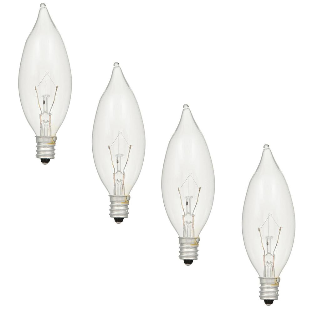 Sylvania 15-Watt Double Life B10 Incandescent Light Bulb (4-Pack)