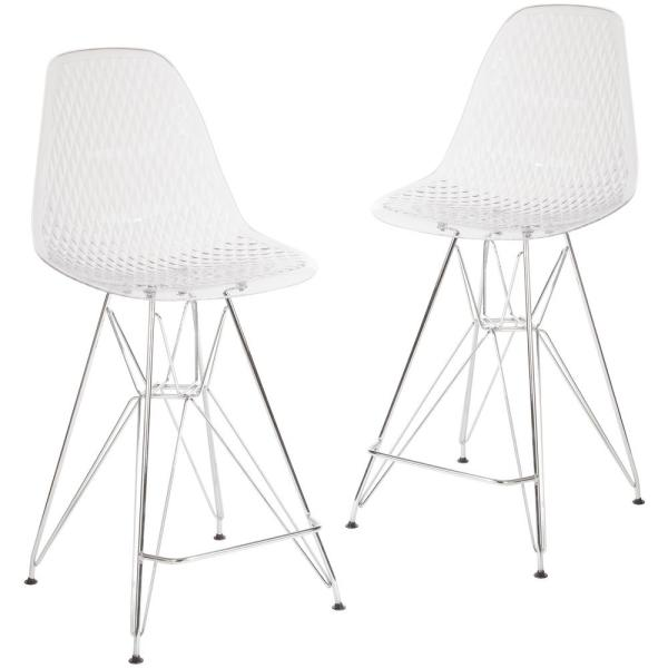 Clear Ghost Counter Stools (Set of 2)