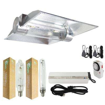 1000-Watt HPS/MH Grow Light System with 8 in. Cool Tube Hood Reflector
