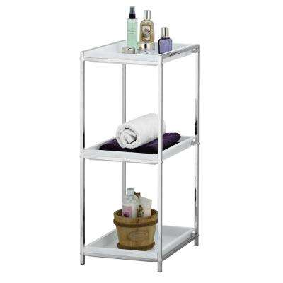 Wayar 12.2 in. W 3-Tier Shelf with Tray in Silver