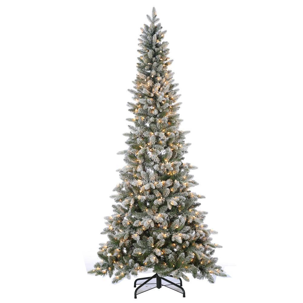 7.5 ft. Pre-Lit Lightly Flocked Canyon Fir Christmas Tree
