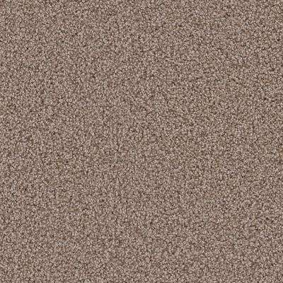 Carpet Sample - Downshift II - Color Stallings Texture 8 in. x 8 in.