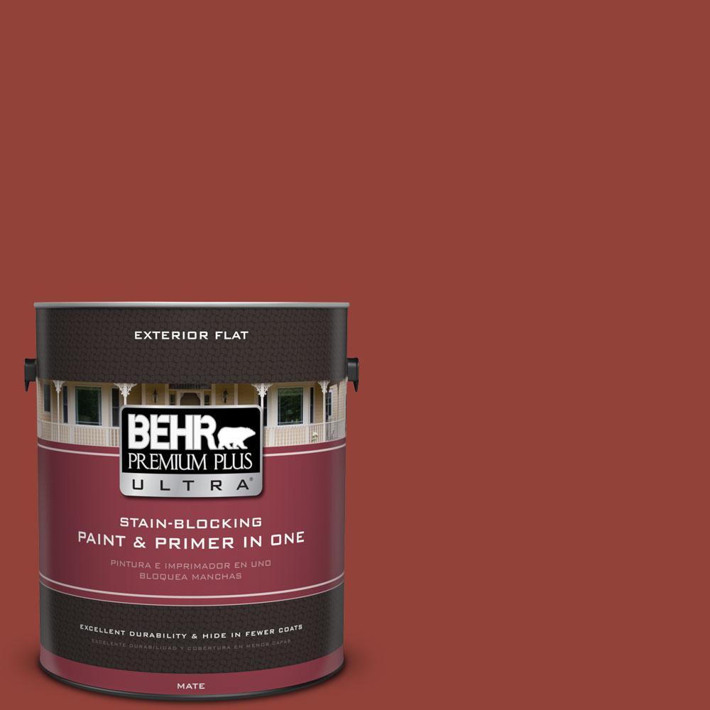 BEHR Premium Plus Ultra 1-gal. #190D-7 Briquette Flat Exterior Paint