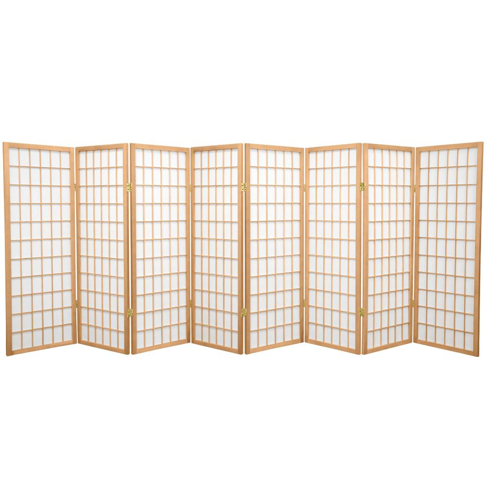 4 ft natural 8 panel room divider wp48 nat 8p the home for Four panel room divider screen