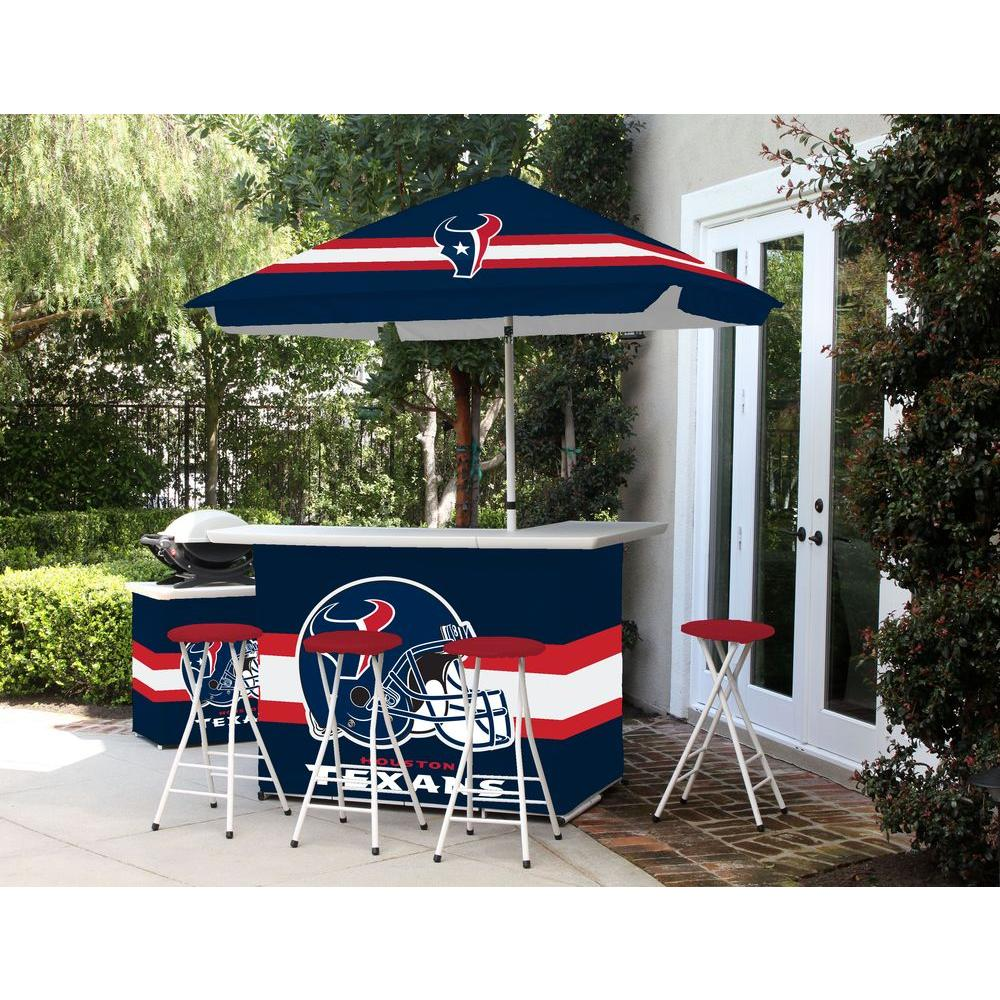 Best Of Times Houston Texans All Weather Patio Bar Set With 6 Ft Umbrella 2003w1221 The Home